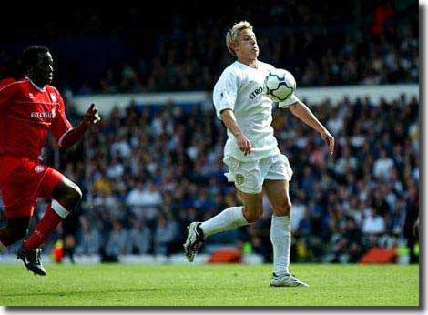 Alan Smith is about to end Leeds' season with a memorable goal against Middlesbrough