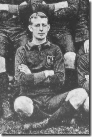 Fred Hargraves in a City line up in 1905