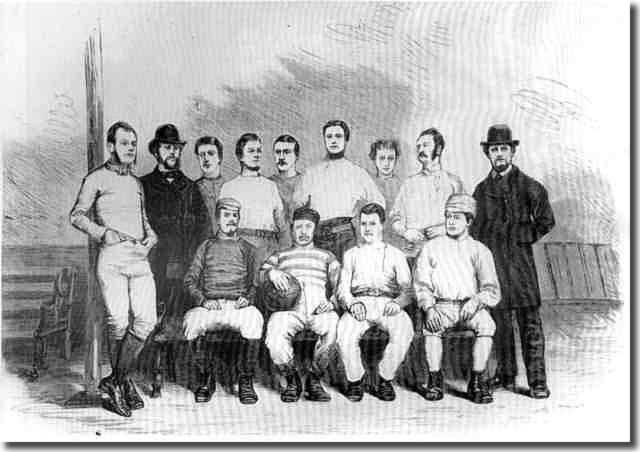 Sheffield FC - the oldest known football club.  They came in the 19th Century to educate the savages of Leeds
