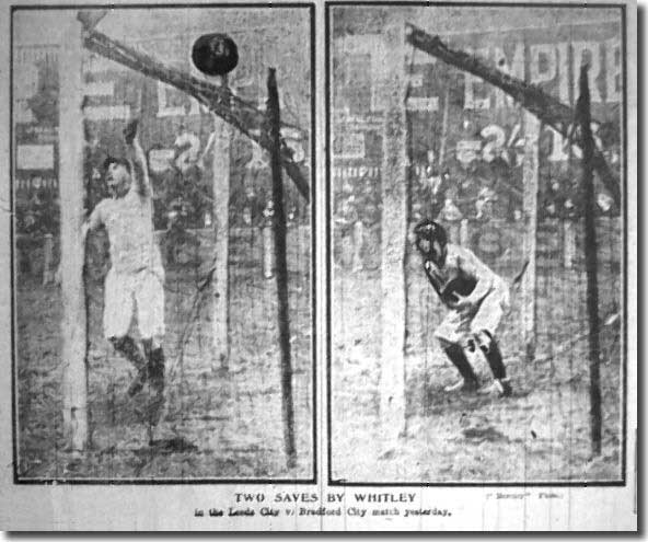 Jack Whitley in action for City reserves during 1906/07