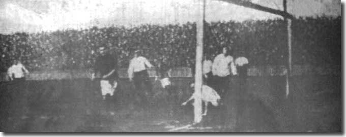 John Lavery scores one of the five City goals against Derby on 15 February