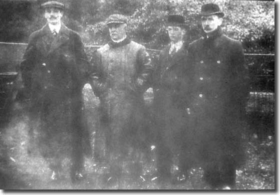 Frank Scott-Walford pictured in January 1911 with chairman Norris Hepworth, Alf Hepworth and vice chair Joe Henry