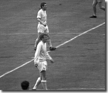 Try as they might, Bobby Collins and Billy Bremner just could not get Leeds going