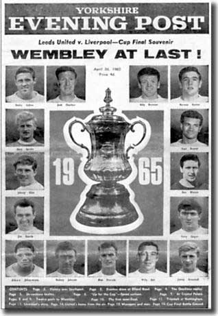 Yorkshire Evening Post souvenir of Leeds United's first trip to Wembley