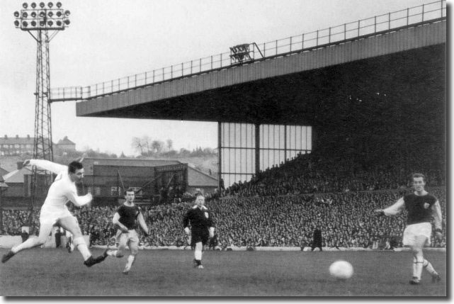 Storrie cracks one in off the back post against Burnley in October 1965 - Did he really mean it?