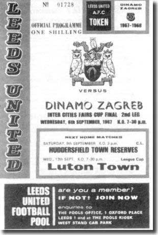 The Elland Road programme from the match