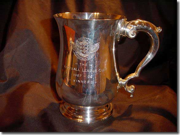 What it was all for - this is Les Cocker's League Cup winner's tankard
