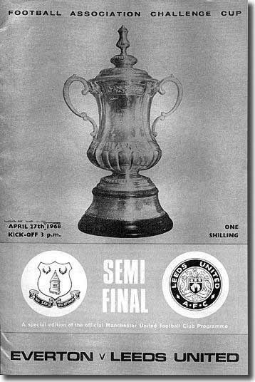 The programme from the Old Trafford semi final