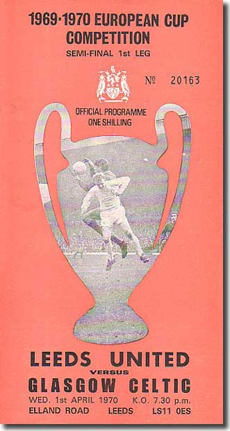 The programme from the match