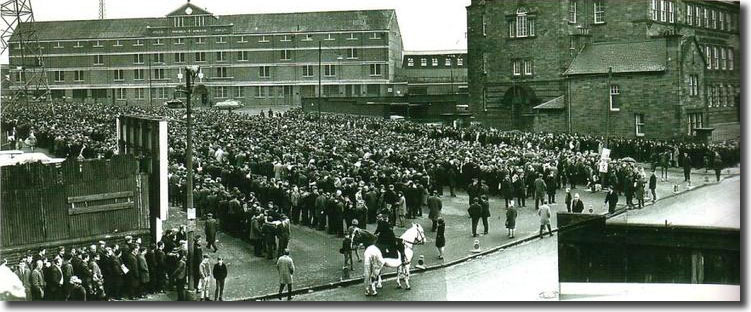The crowd outside Hampden before the match