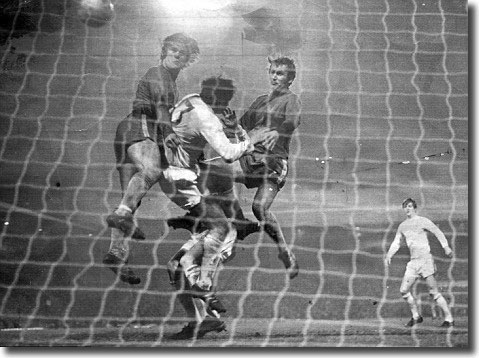 David Webb scores the winner in the 1970 Cup final replay