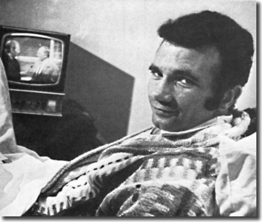 Paul Reaney recovering from his broken leg
