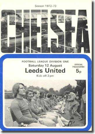 The programme from the Stamford Bridge clash