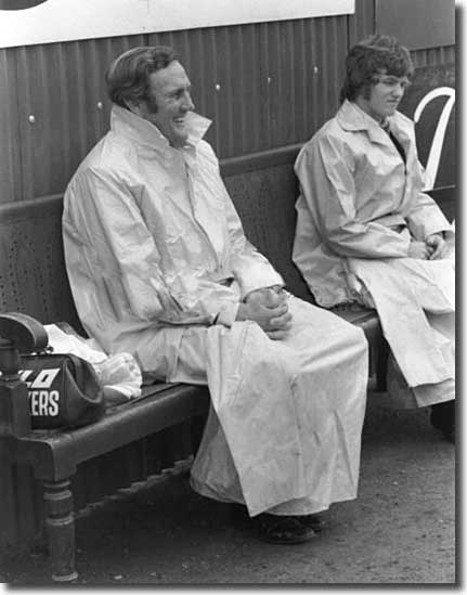 Don Revie sees the funny side in the rain at Stamford Bridge, but he wasn't laughing later