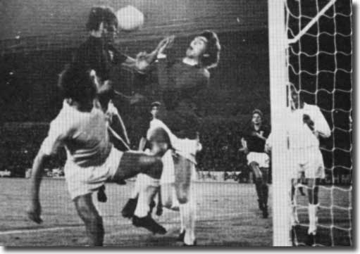 Rod Belfitt beats David Harvey to score for Ipswich in a 3-3 draw at Elland Road in August 1972