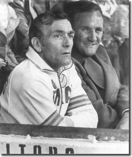 United manager Don Revie, here pictured with assistant Les Cocker, had set his sights on the League championship