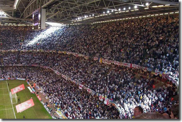 Leeds United fans take their allocation and more at the final in Cardiff