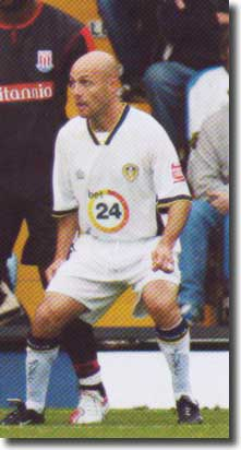 Alan Wright in action for Leeds against Stoke in October 2006