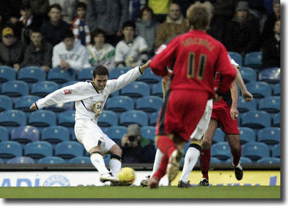 David Healy fires in a low shot to open the scoring in the vital win over Coventry on January 1
