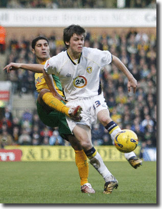 Norwich City's Youssef Safri tackles 18-year-old starlet Jonathan Howson on 3 February