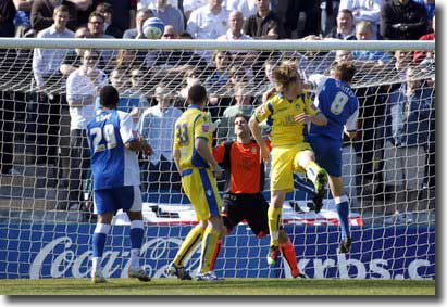 Gillingham's Mark Bentley puts them 2-0 up against United