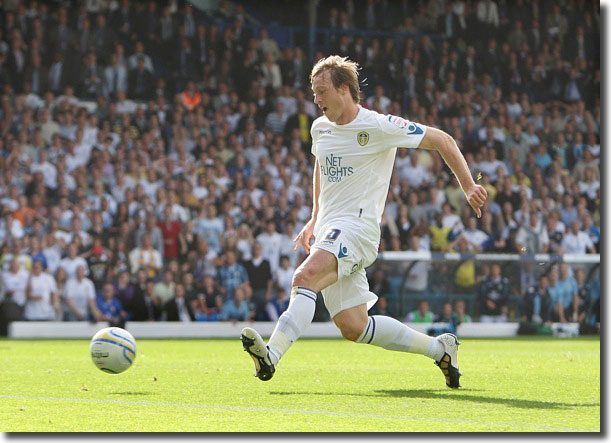 Luciano Becchio scores on the opening day against Derby