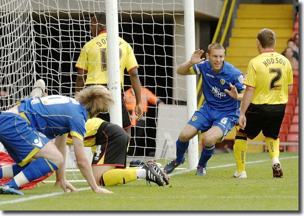 Captain Richard Naylor taps home at Watford to secure the points