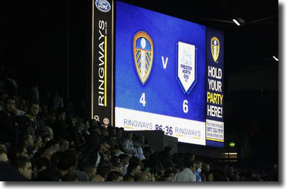 The scoreboard says it all on a remarkable evening at Elland Road