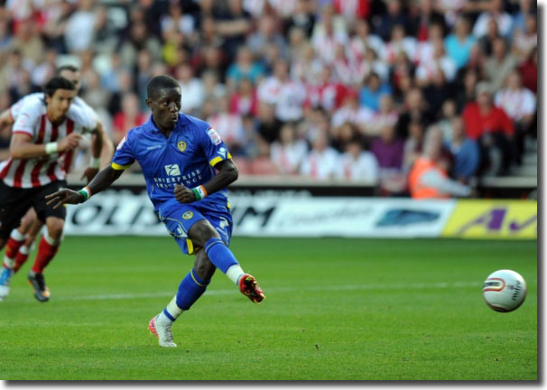 Max Gradel scores a consolation penalty at Southampton on the opening day