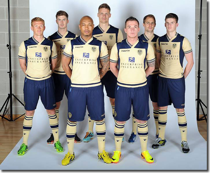 Green, Murphy, Diouf, Smith, McCormack, Varney and Byram model the new away kit