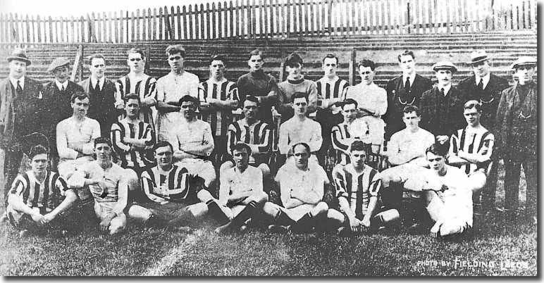 The 1920-21 squad Back: M Barker, Hilton Crowther, Duffield, Cooper, Hart, Brown, Jacklin, Down, Coope, Walton, Jeffries, Stead (Asst Trainer). Fairclough (Manager), Murrell (Trainer) Second Row: Frew, Spencer, Lyon, Ellson, Thompson, Stuart, Goldthorpe, Reynolds. Front: Armitage, Mason, Baker, Tillotson, Musgrove, McGee, Best