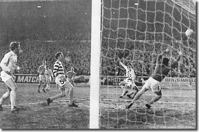 Allan Clarke crashes in a shot but Evan Williams pushes it away