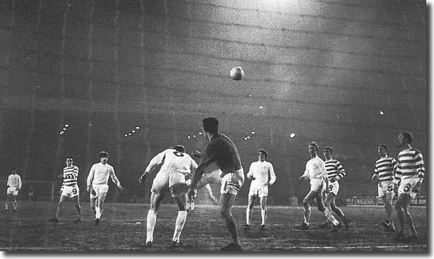 Celtic keeper Evan Williams clears the ball under pressure from Allan Clarke