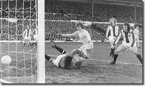 Allan Clarke pounces in the Cup against West Brom on 24 February