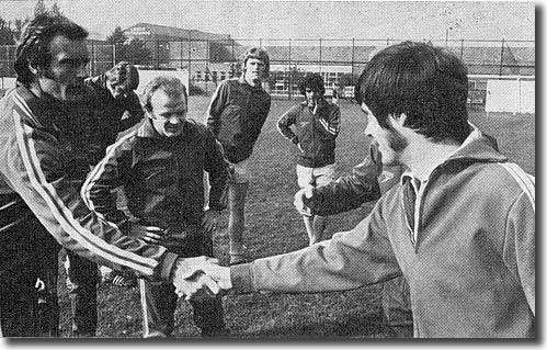 McKenzie meets his Leeds team mates for the first time