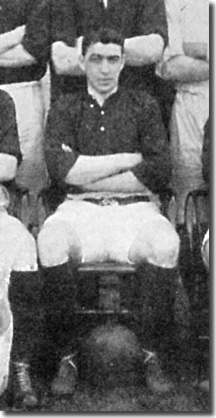 Adam Bowman at the start of the 1908/09 season