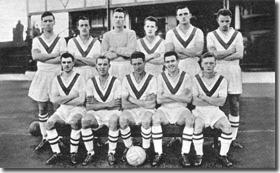 Jim Storrie is second from the right in front of this Airdrie team group from 1959/60