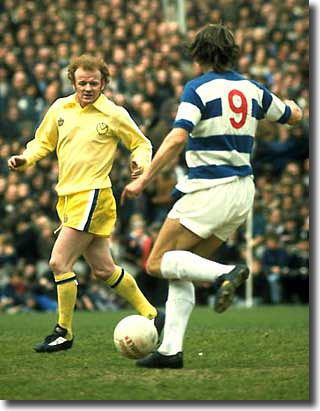 Bremner faces up to QPR's Mick Leach