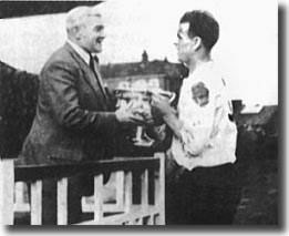 John Charles receives the Army Cup in 1952