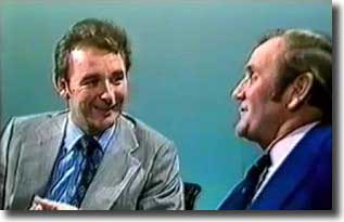 Brian Clough and Don Revie during an infamous TV confrontation in 1974