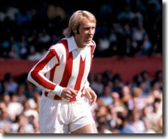 Greenhoff in action for Stoke City in 1973