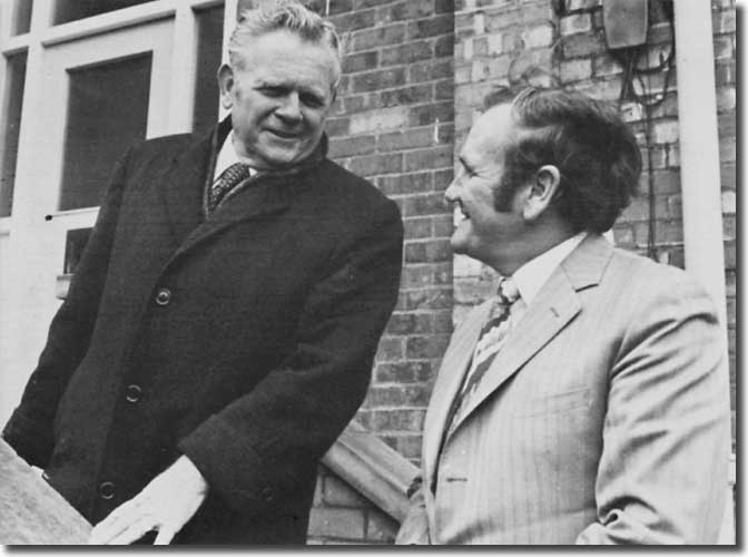 Alan Hardaker and Don Revie in a shot when both men seemed comfortable in each other's company