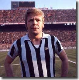 Former West German international Helmut Haller was an experienced member of the Juve midfield