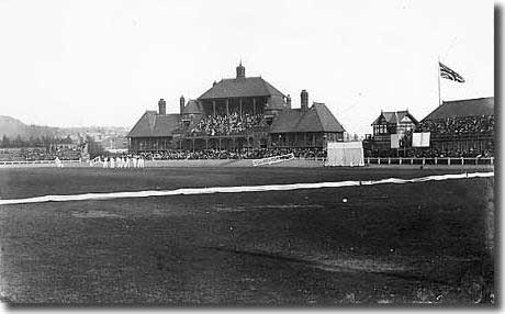 The Hunslet cricket ground in the 1900s. The site was purchased by the Leeds Cricket, Football and Athletic Club and the pavilion was built in 1889