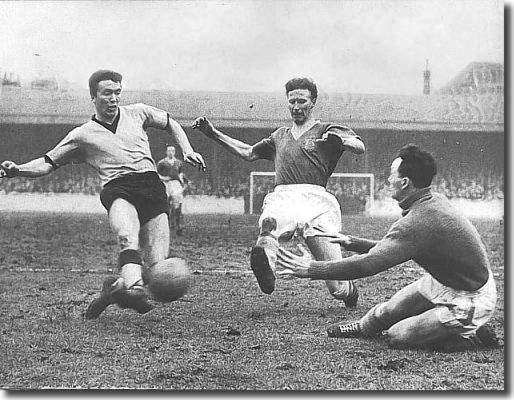 Jack in action for Leeds in the very early 60's