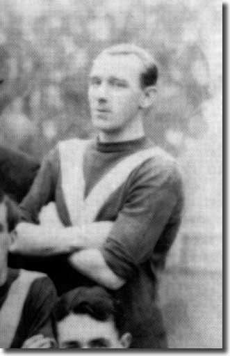 Jack McQuillan, pictured before Leeds City lost 6-3 at Birmingham on 24 October 1914