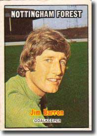 Forest goalkeeper Jim Barron was in the wars at Elland Road