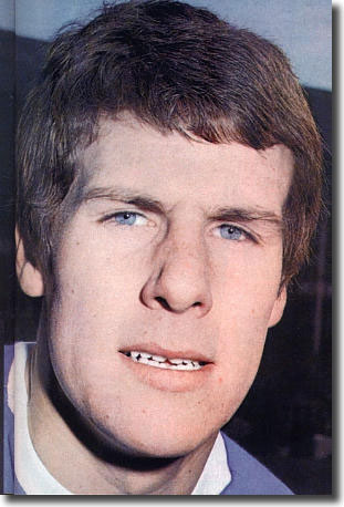 Young Everton striker Joe Royle spent his afternoon harrying Gary Sprake and his side got the reward when Sprake duffed a clearance