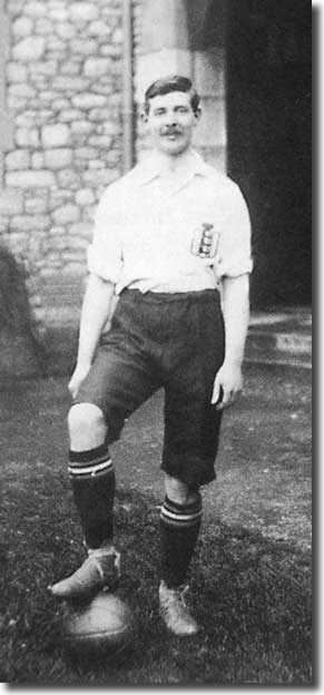 Evelyn Lintott, here pictured in England kit, was one of Herbert Chapman's new signings