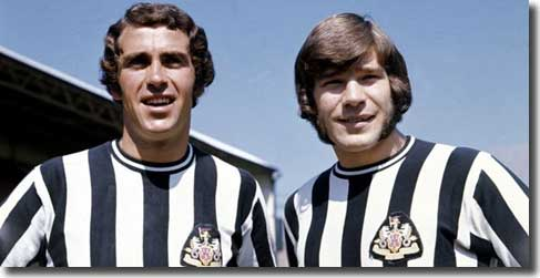 Newcastle skipper Bobby Moncur welcomes new signing Malcolm Macdonald to St James' Park